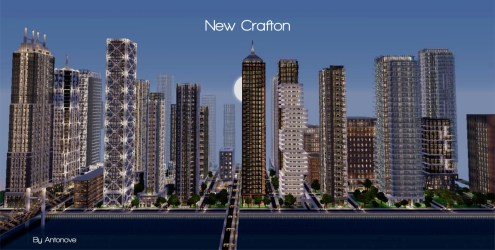 modern minecraft detailed crafton finished cities project map buildings building planetminecraft center york screenshot square