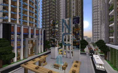 modern detailed square center crafton finished minecraft map
