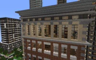 modern building detailed minecraft crafton finished