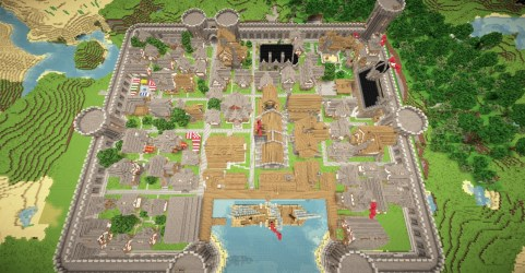 medieval port town minecraft baystone map project logs update