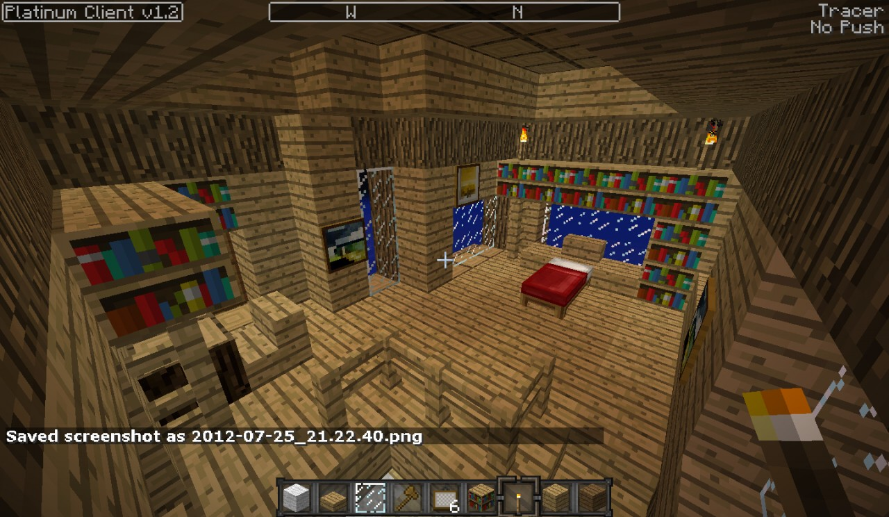Wooden House with Basement Minecraft Project