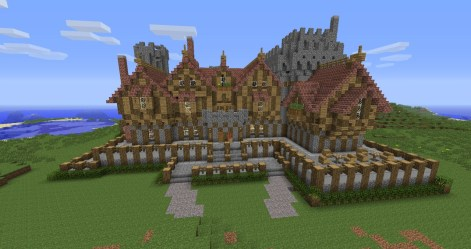 manor medieval mansion project minecraft