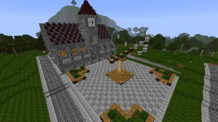 town medieval hall minecraft med project schemagic