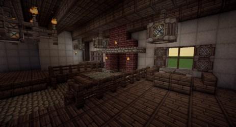 interior medieval tavern minecraft map