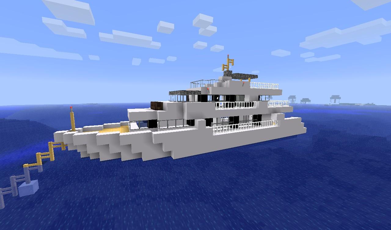 Яхты майнкрафт картинки