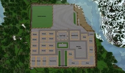 minecraft town medieval layout village blueprints plan designs houses idea cool mansion buildings build plans castle modern maison bauen planetminecraft