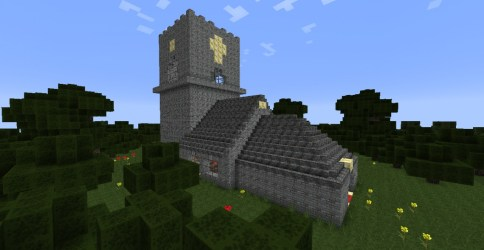 church medieval side minecraft