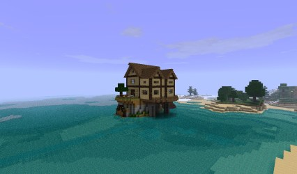 Small cottage island house Minecraft Map