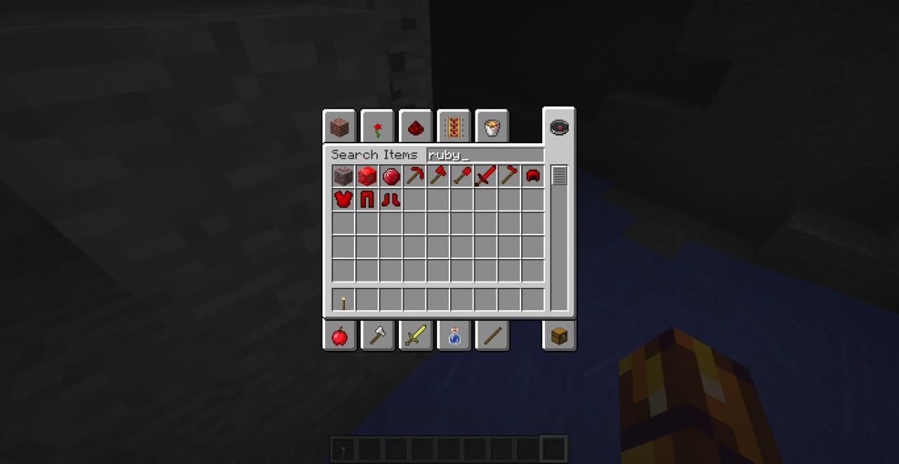 Rubies Craft Able Redstone Minecraft Mod