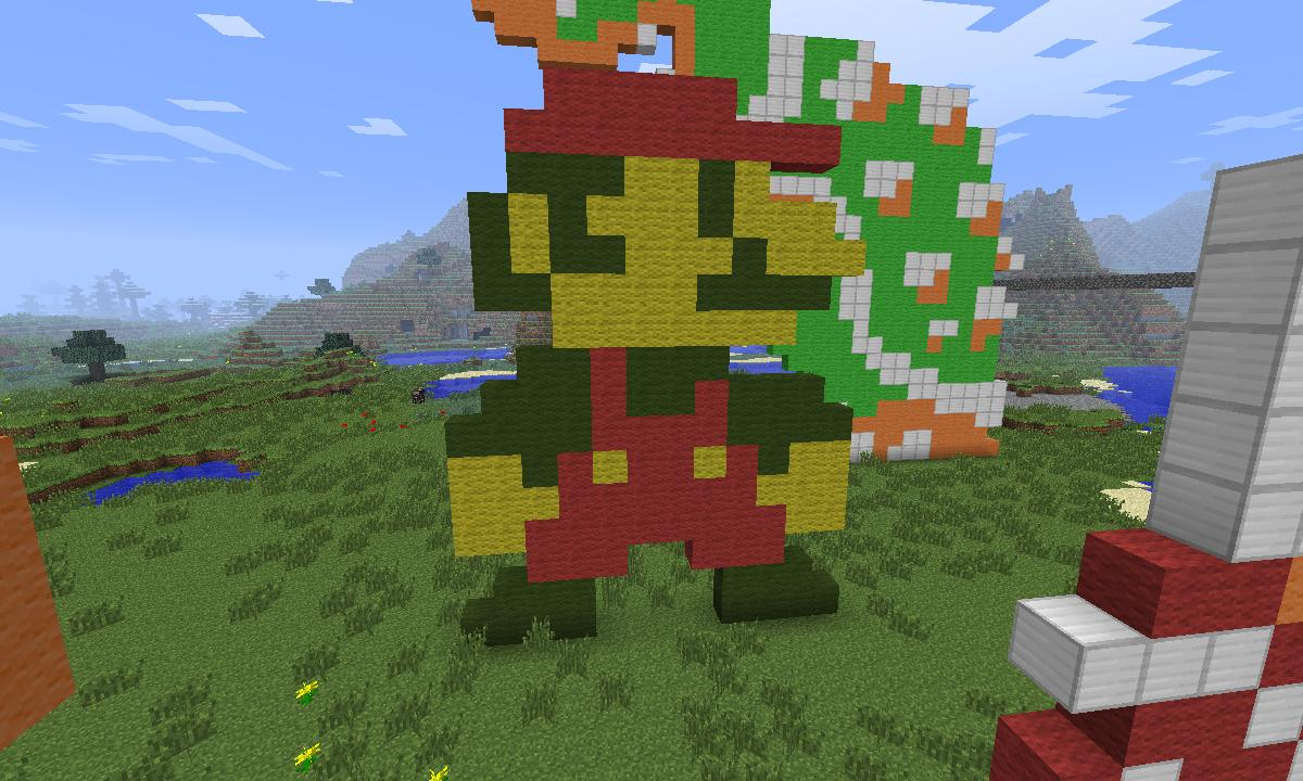 8 Bit Characters Minecraft Project