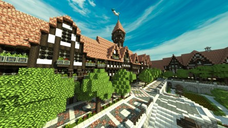 town medieval minecraft hall townhall project