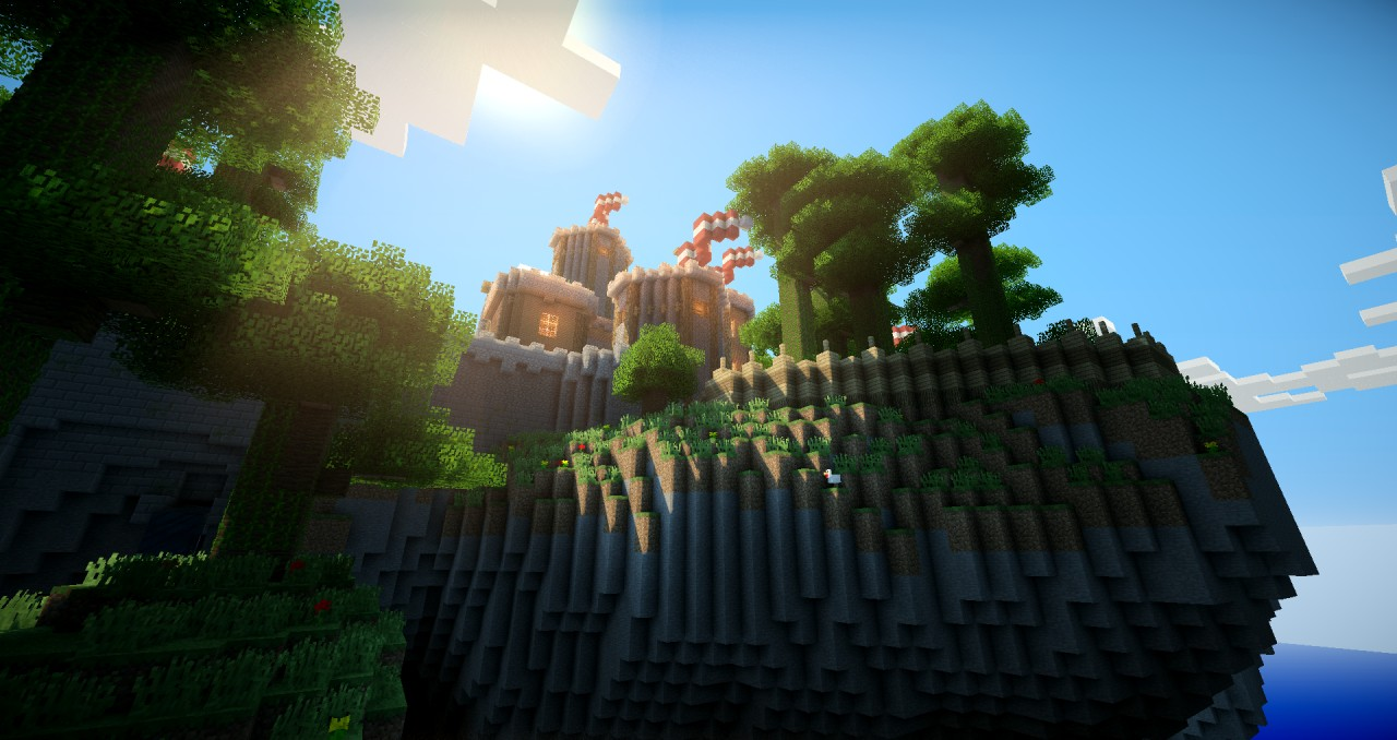 3d Island Wallpaper The Sky Castle Minecraft Project