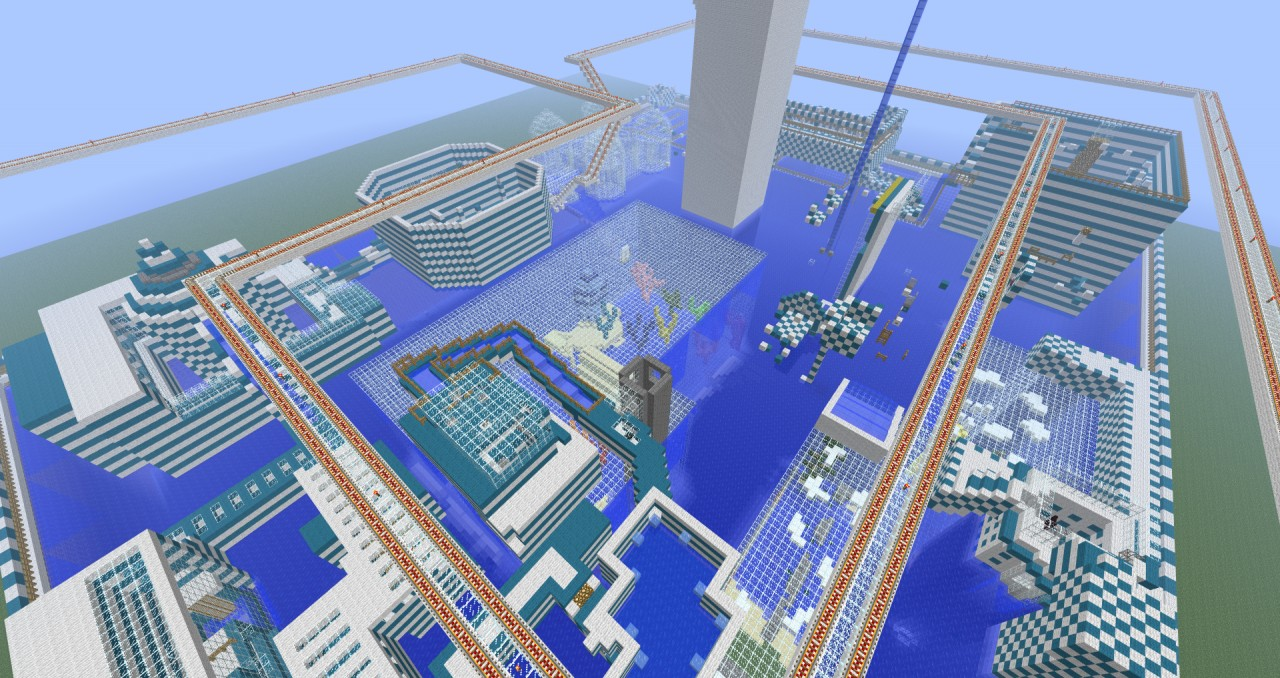 Pool Parkour 2 CHALLENGE MAP Minecraft Project