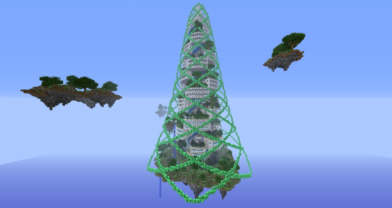 Spiralcraft Sky Tower  Fully Explorable Minecraft Project