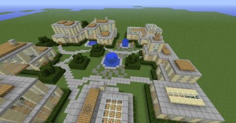 town modern minecraft