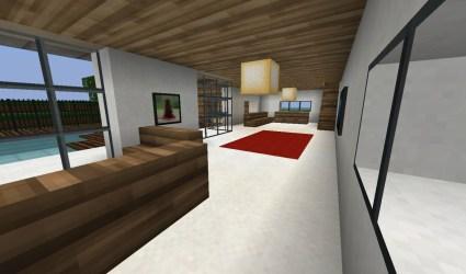 fancy modern hallway downstairs minecraft