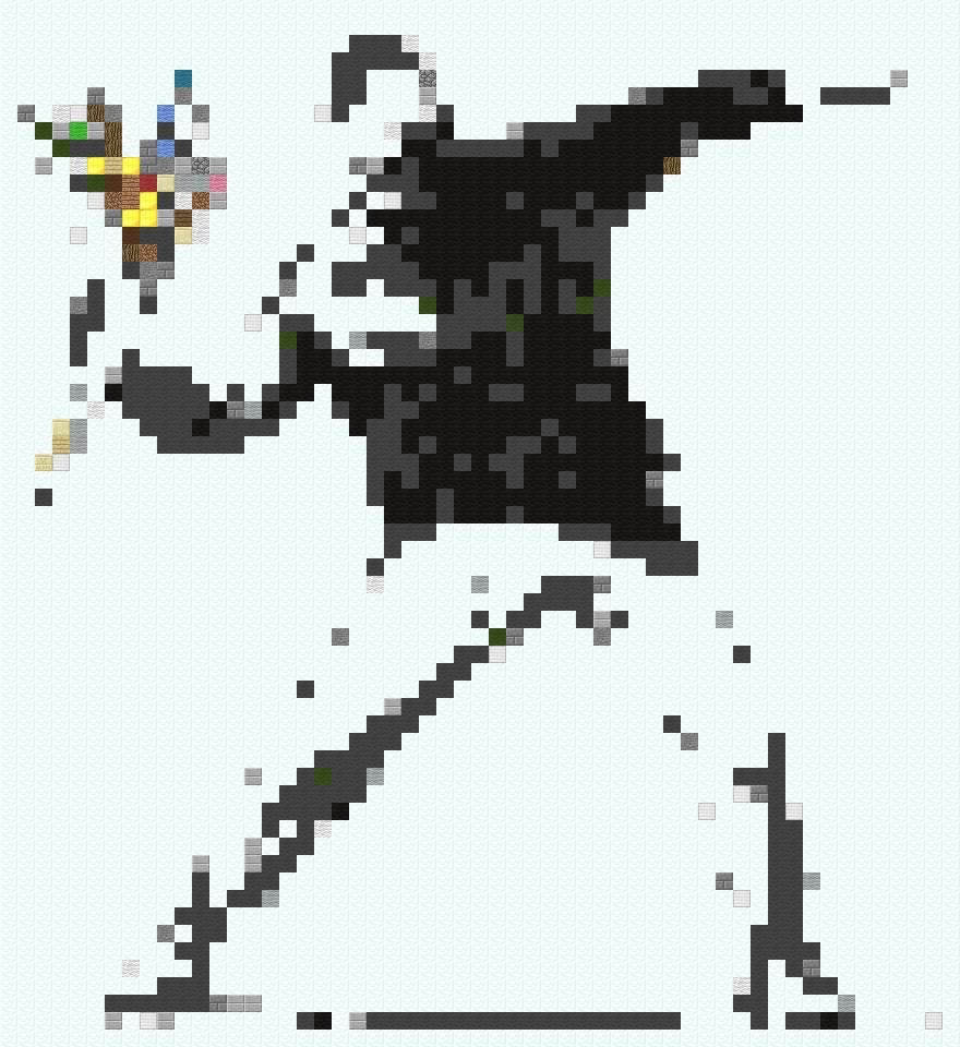 BANKSY Pixel Minecraft Project