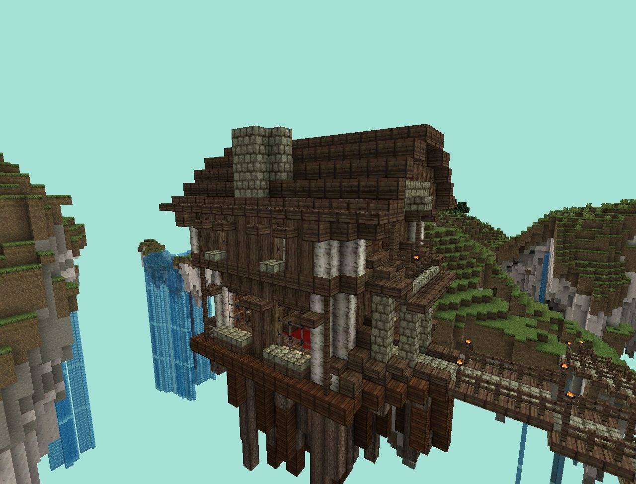 Air System Schematic Skyland Small Wooden House Minecraft Project
