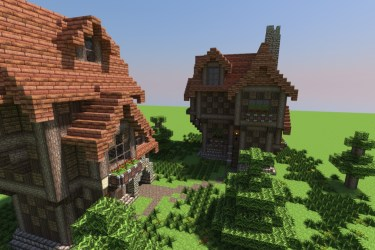 minecraft medieval houses project projects tweet