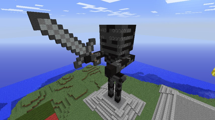 Mob Statue Wither Skeleton Minecraft Project