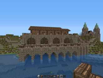medieval dock town minecraft gothic project giant