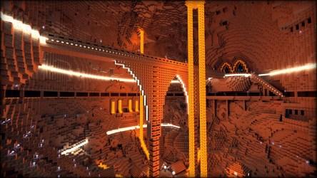 dwarven minecraft cavern render project interior renders rendered build lego buildings planetminecraft side structures imgur caverns bridges idees idea pixel