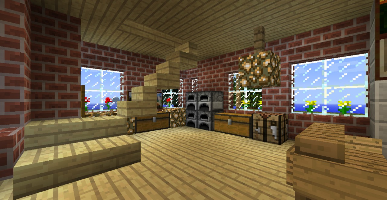 Brick House 132 world save download Minecraft Project