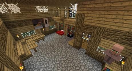 village inside minecraft project
