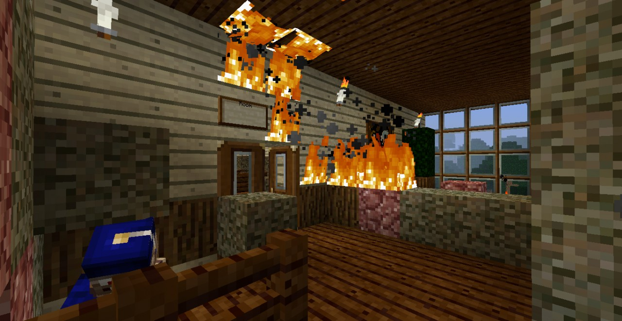 Burning House Challenge Mansion Minecraft Project