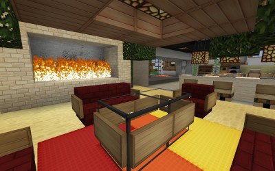 fireplace mansion seating area maddison heights minecraft stijl