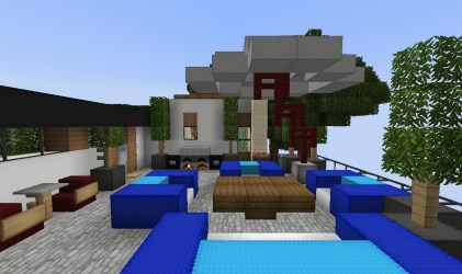terrace fancy parasol mansion minecraft maddison heights project stijl couches bbq planetminecraft
