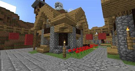 minecraft village medieval tutorial side left front