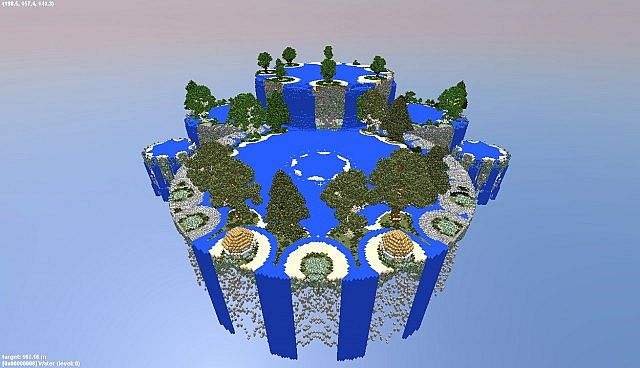 Falling Down A Portal Wallpaper Fountain City Floating Islands In The Void Minecraft Project