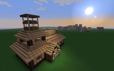 cozy cottage village minecraft 1243