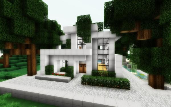 Simple Modern Minecraft House