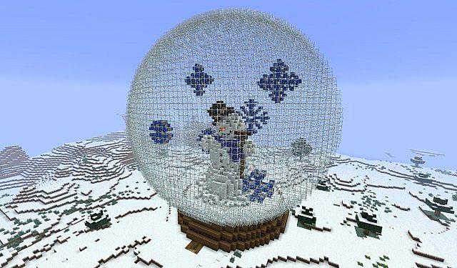 Let it snow  Snow globe Minecraft Project