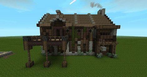 tavern medieval down worn minecraft side right