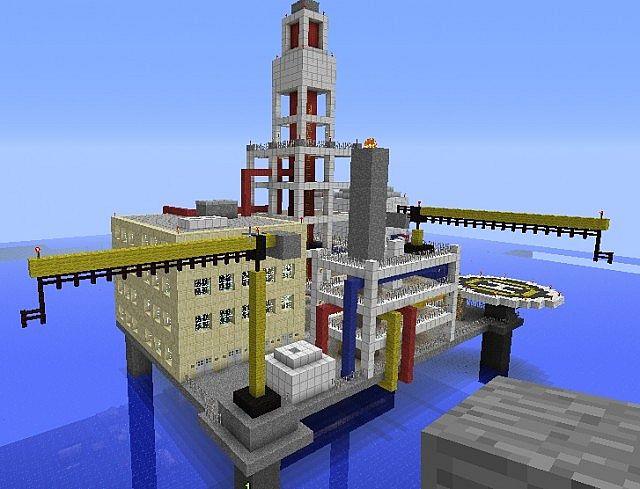 Oil platform Minecraft Project