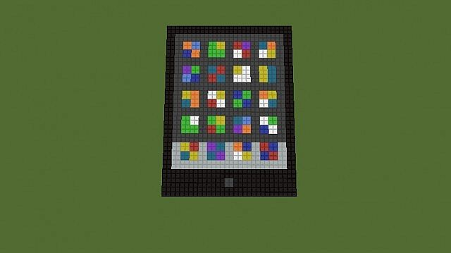 Computer Pixel Art Minecraft Project