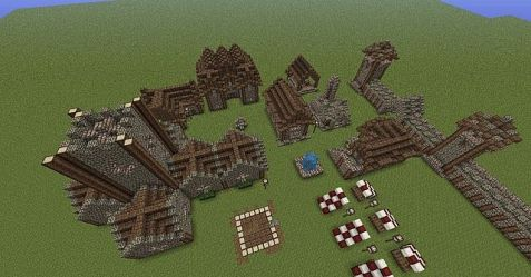 medieval layout town village map minecraft planning buildings onto moving before planetminecraft