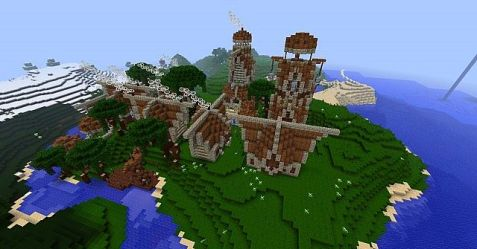 Fëanáro Elvish City Minecraft Map