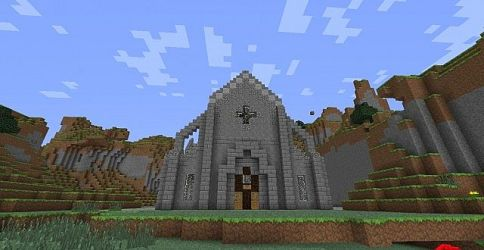 church medieval simple minecraft library