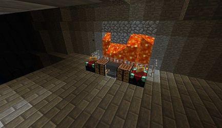 dwarven forge lava diamonds minecraft enchanting furnaces crafting smelting behind amazing