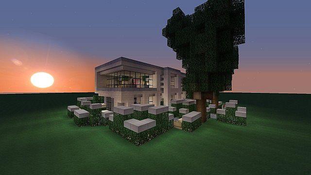 Modern House Download Schematic Or SMP World Minecraft