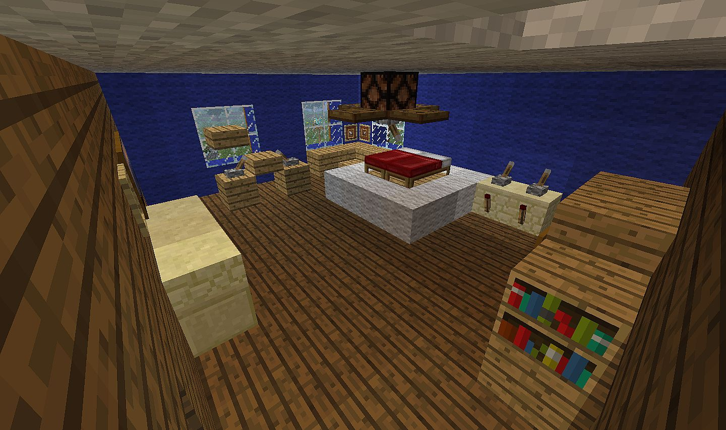 Today i'm going to show you how to make a nice and easy minecraft master bedroom. Modern Home -Minecraft size! Minecraft Project