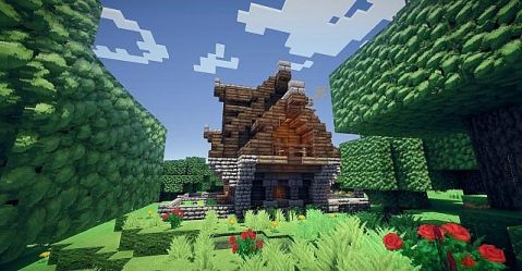 cozy cottage minecraft project tweet