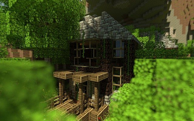 Cabin And Modern House Dilapidated Amp Overgrown Minecraft
