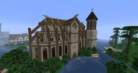 church medieval project minecraft