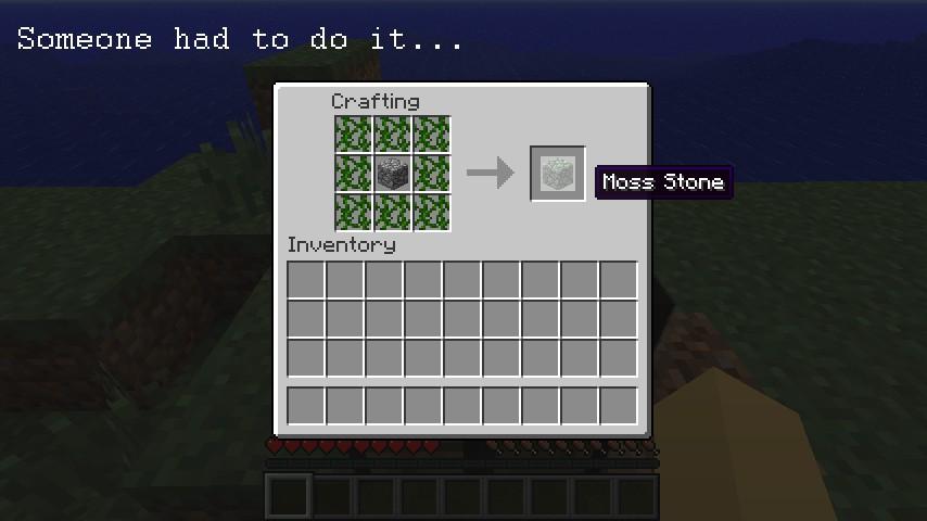 Craftable Moss Stone Mod DISCONTINUED Minecraft Mod