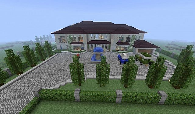 Very realistic mansion Minecraft Project